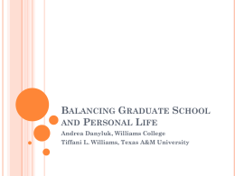 Balancing Graduate School and Personal Life