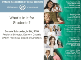 the role of social work in influencing social policy