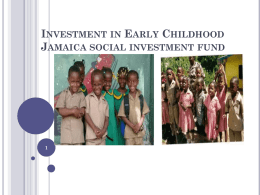JSIF Presentation - The Early Childhood Commission