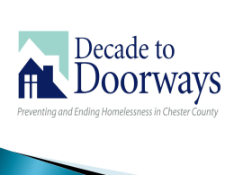 end homelessness - Decade To Doorways