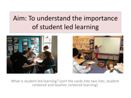 cpd student led learning