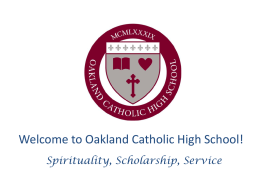 Welcome to Oakland Catholic High School