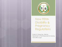 New FEHA Disability & Pregnancy Regulations