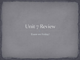 Unit 7 Review