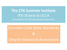 CTA Common Core Power Point - El Segundo Teachers Association