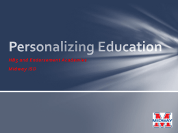 Personalizing Education