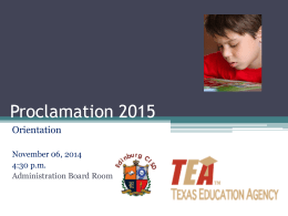 Proclamation - Edinburg Independent School District