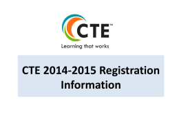 CTE 2013-2014 Registration Information