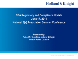Reporting, Regulatory and Compliance Changes