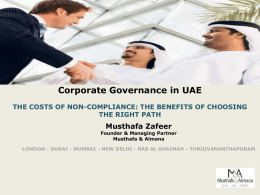 Corporate Governance in UAE Board Structures