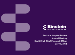 1 - Becker`s Hospital Review