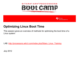 Optimizing Linux Boot Time