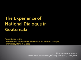 National Dialogue in Guatemala