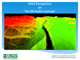 USGS Perspective on The Ele-Hydro Concept