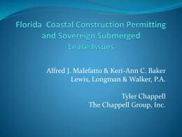 Florida Coastal Construction Permitting and Sovereign Submerged