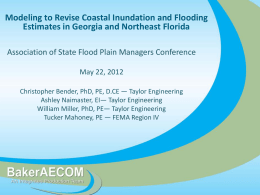 Title of Presentation - The Association of State Floodplain Managers