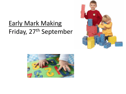 Early Mark Making workshop student version