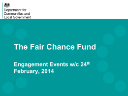 Fair Chance Fund DCLG information