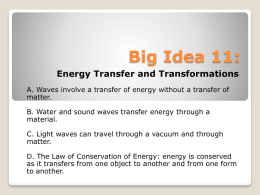 Energy Transfer and Transformations (7th Grade)