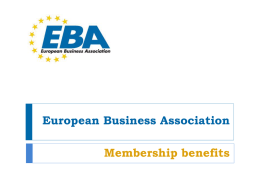 eba mission - European Business Association