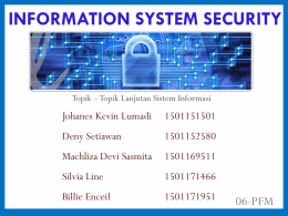 (TOTOLAN 07) Information System Security