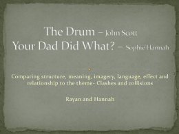 The Drum * John Scott Your Dad Did What? * Sophie Hannah