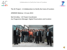 A Collaboration to Clarify the Costs of Curation