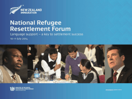 New Zealand Refugee Resettlement Strategy overview