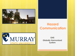 GHS Hazard Communication PowerPoint Presentation