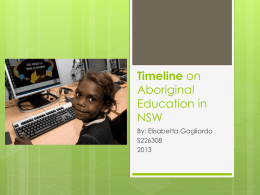 Timeline on Aboriginal education in nsw