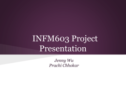 INFM603 Project Presentation