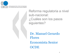 Reforma Regulatoria a nivel subnacional | Manuel Flores