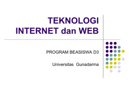 tek_internet - Universitas Gunadarma