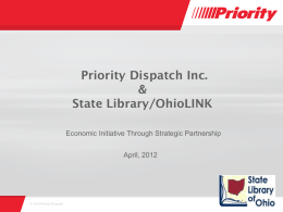 Priority Dispatch Inc. & State Library/OhioLINK
