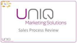 Sales Process Presentation