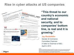 Rise in cyber attacks at US companies