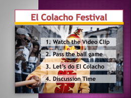 El Colacho(PPT). - Smilenglish-ICC