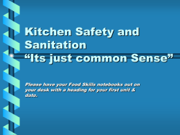 In your notes, record all the Kitchen Safety Hazards you can find