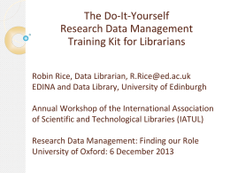 Training Librarians in Research Data Management