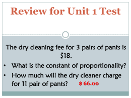 Extra Review for C.O.P Unit Test