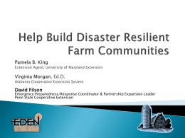 Help Build Disaster Resilient Farm Communities