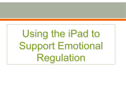 Using the iPad to Support Emotional Regulation2