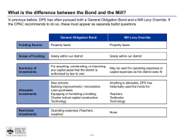 What is the difference between the Bond and the Mill?