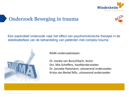 Powerpoint Beweging in Trauma
