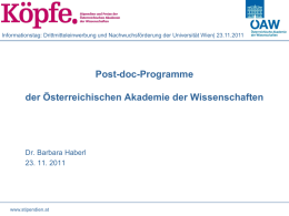 Post-doc - Universität Wien