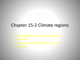 Chapter 15-2 Climate regions