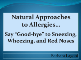 Natural Approaches to Allergies
