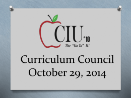 October Curriculum Council PowerPoint