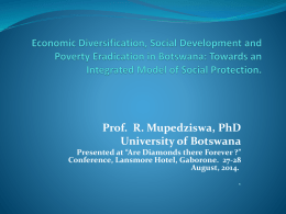 Towards an Integrated Model of Social Protection. - FES
