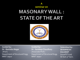 advantages of masonary wall